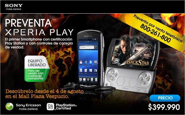 400 mil pesos cuesta Xperia Play
